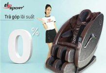 Mua ghế massage 0% lãi suất