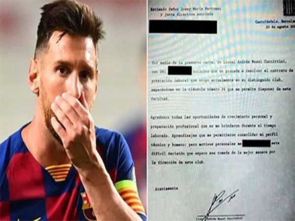 Tin bóng đá trưa 26/8: Nội dung bản fax của Messi