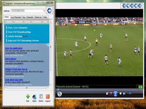 Sopcast là phần mềm giúp cho hàng triệu fan hâm mộ bóng đá xem được các trận đấu đỉnh cao.